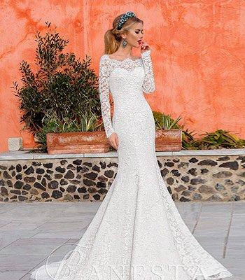 свадебное платье кружевная рыка