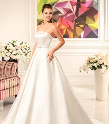 свадебное платье атлас