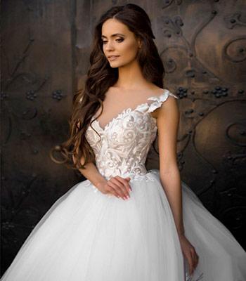 свадебное платье нюд