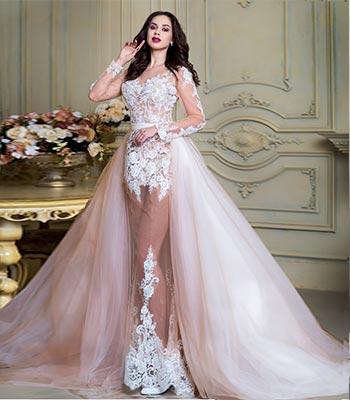 свадебное платье рыбка прозрачная