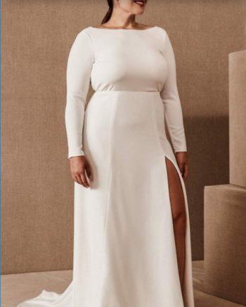 ппрямое платье свадебное большого размера