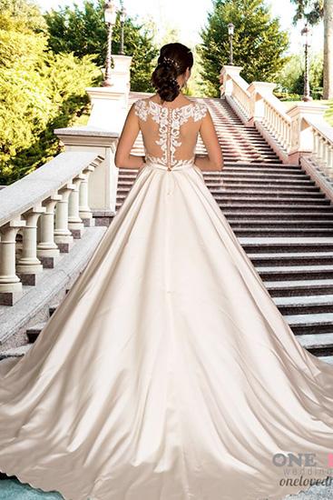 спинка атласного свадебного платья