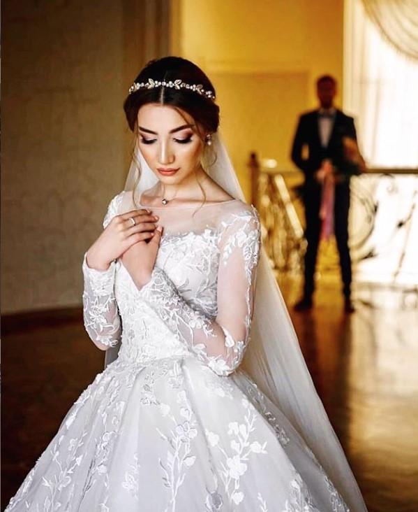свадебное платье с рукавами