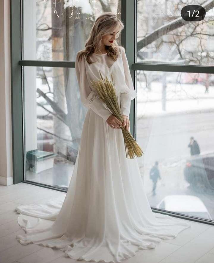 минималистическое свадебное платье