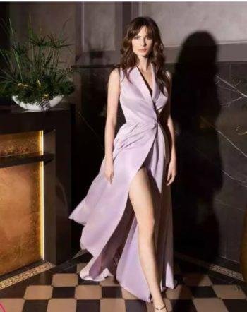 вечернее платье цвет лаванда