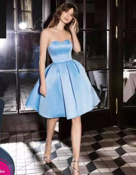 вечернее платье короткое