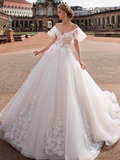свадебное платье с крылышками