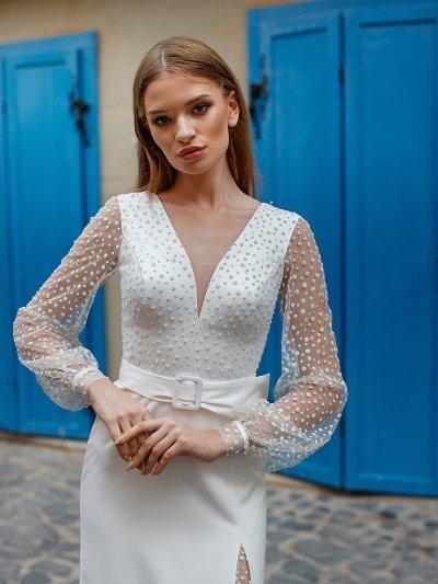 Свадебное платье 10 с рукавами
