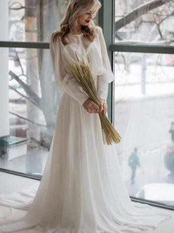 Свадебное платье минималистичное