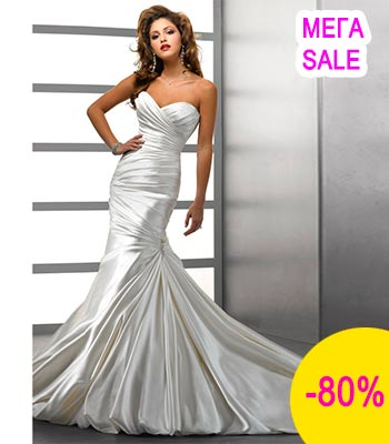 Свадебное платье рыбка атлас