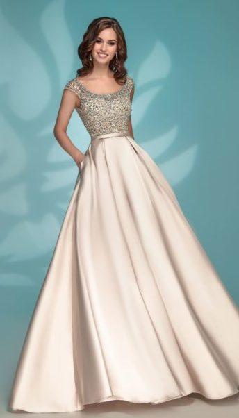 Вечернее платье комбинированное