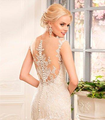 красивая спинка у свадебного платья
