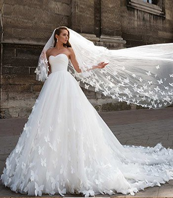 свадебное платье бабочки