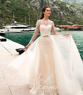 свадебное платье с дополнительной юбкой