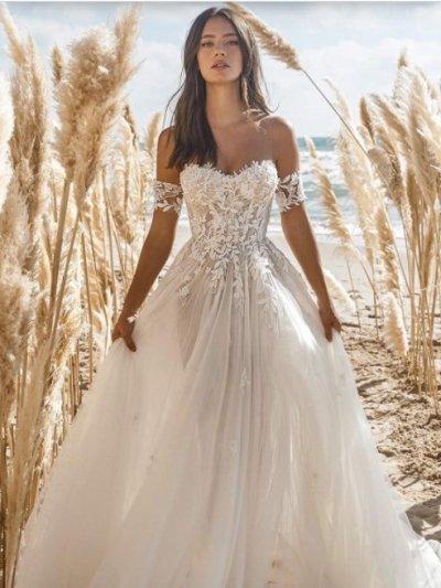 Свадебное платье 81 полупрозрачное в цвете нюд