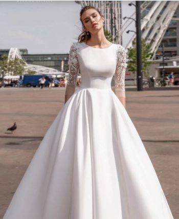 свадебное платье 231 атласное