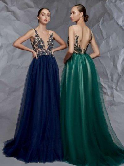 Вечерние платья с фатиновой юбкой
