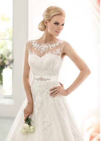 Свадебное платье с кружевной юбкой модель 203
